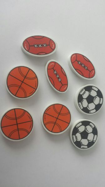 Sports Ball Eraser Party Bag Fillers (8)